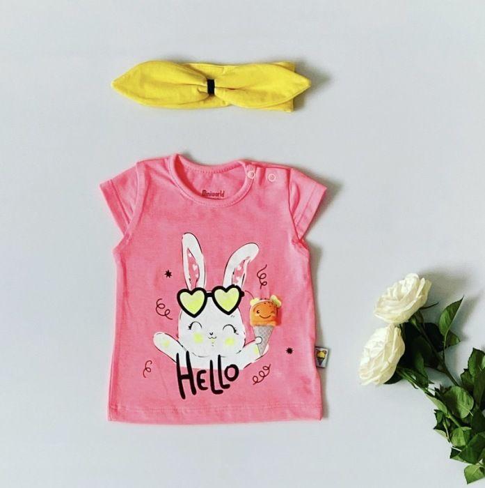 T-shirt hello dla dziewczynki 56-92 cm