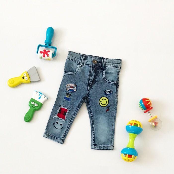 Jeansy łatka dla chłopczyka 56-92 cm