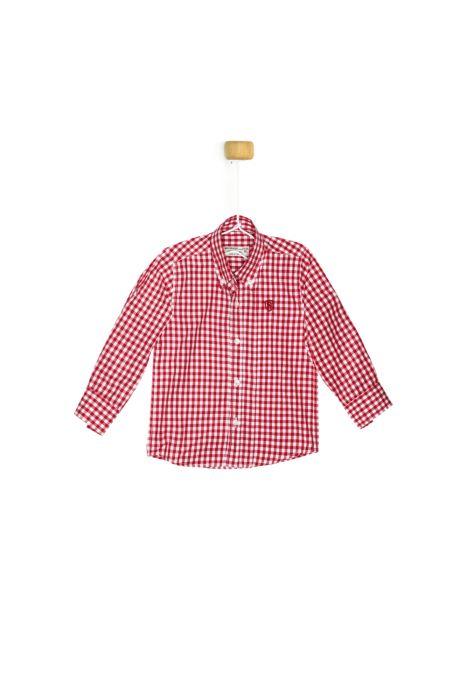 Koszula w czerwoną kratkę