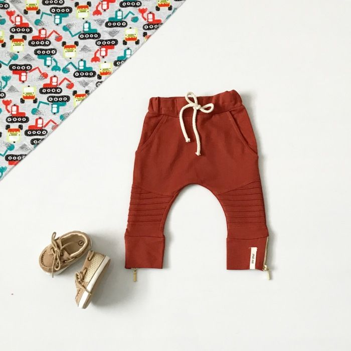 Spodnie z zameczkiem II dla chłopczyka 56-92 cm