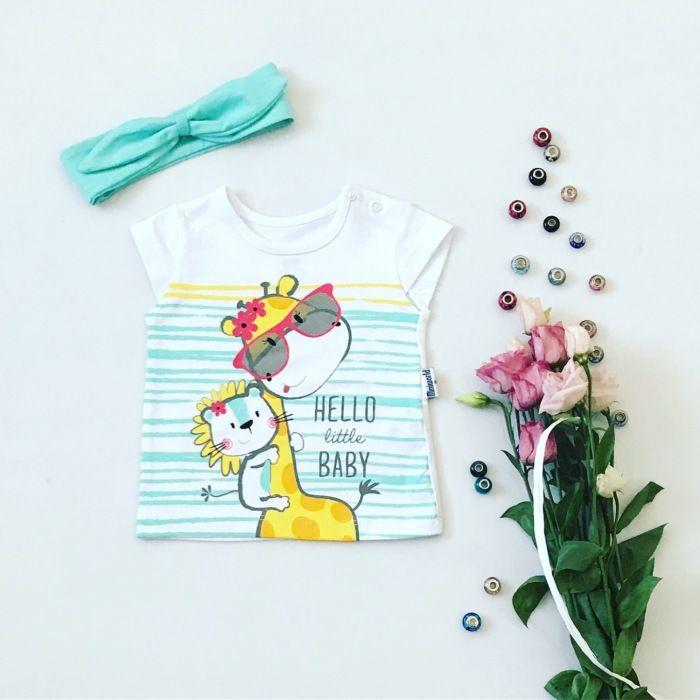 T-shirt little baby dla dziewczynki 56-92 cm