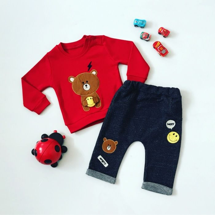 Komplet red tedd dla chłopczyka 56-92 cm