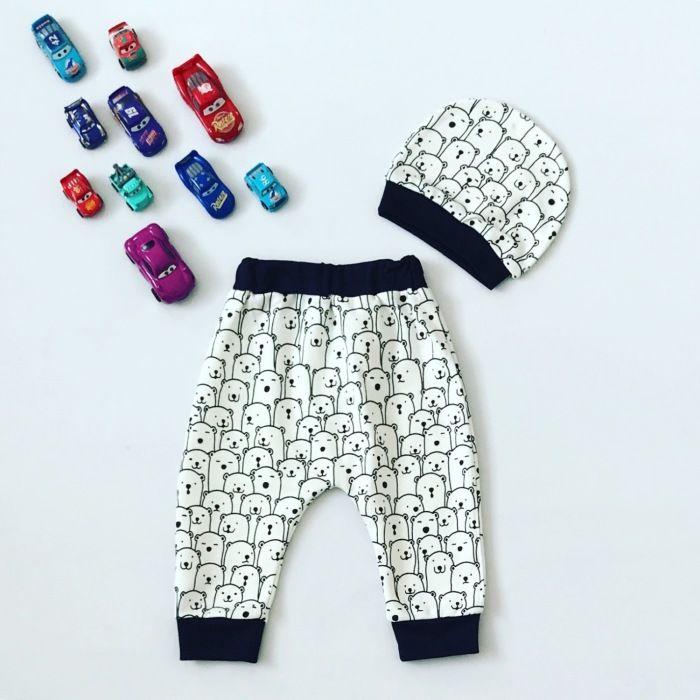 Spodnie cool + czapka dla chłopczyka 56-92 cm