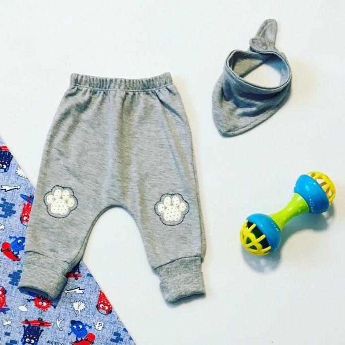 Spodnie dowgs + apaszka dla chłopczyka 56-92 cm