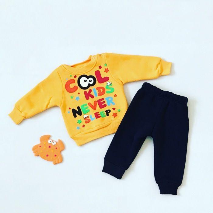 Komplet cool żółty dla chłopczyka 56-92 cm