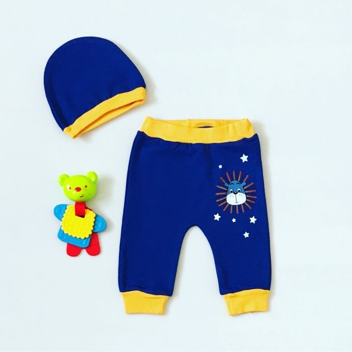 Spodnie king + czapka dla chłopczyka 56-92 cm