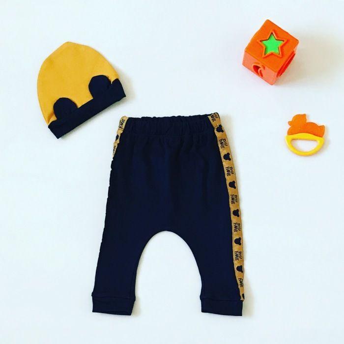 Spodnie big hug + czapka dla chłopczyka 56-92 cm