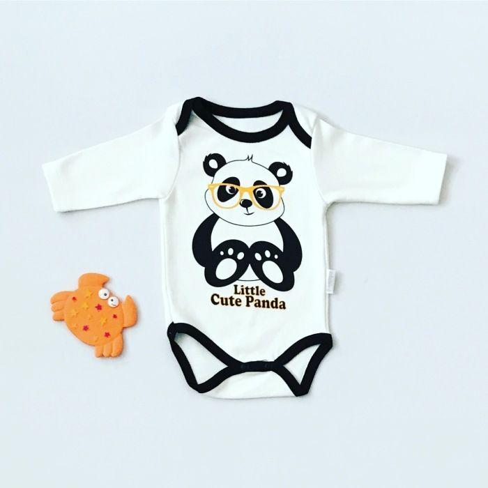 Body panda z długim rękawem dla chłopczyka 56-92 cm
