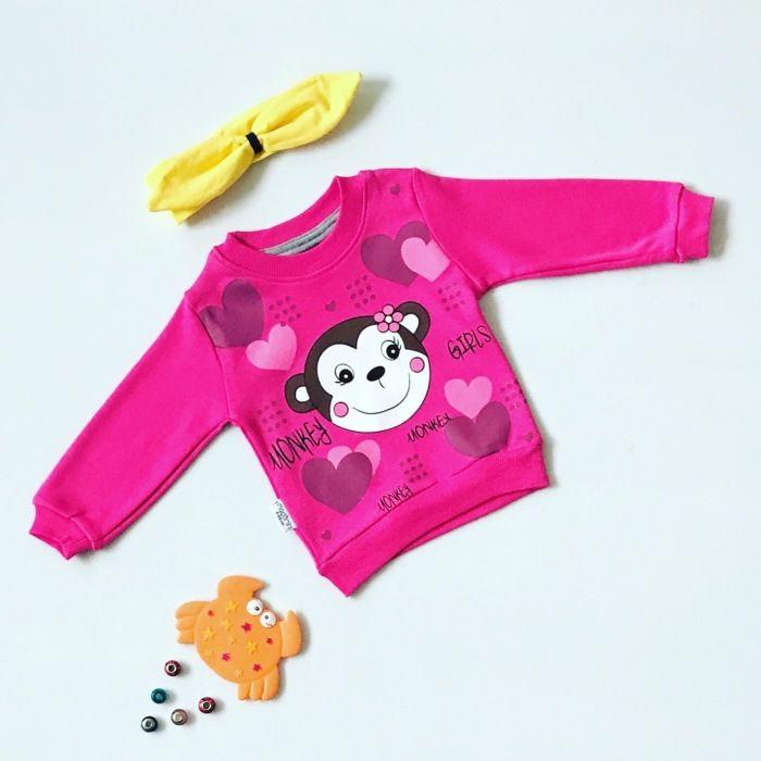 Bluza monkey dla dziewczynki 56-92 cm