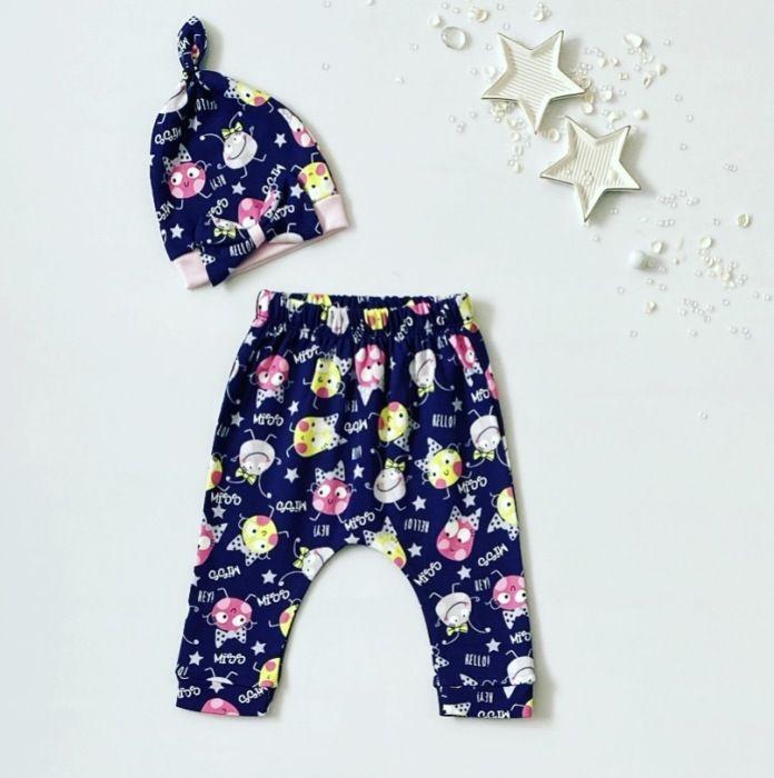 Spodnie miss + czapeczka dla dziewczynki 56-92 cm