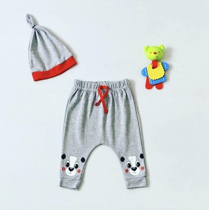Spodnie smile + czapka dla chłopczyka 56-92 cm