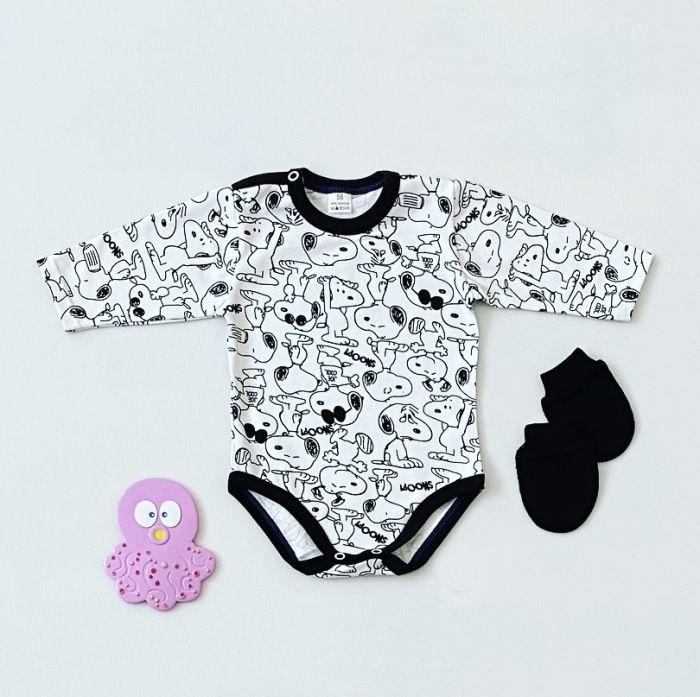 Body Snoopy z długim rękawem dla chłopczyka 56-92 cm