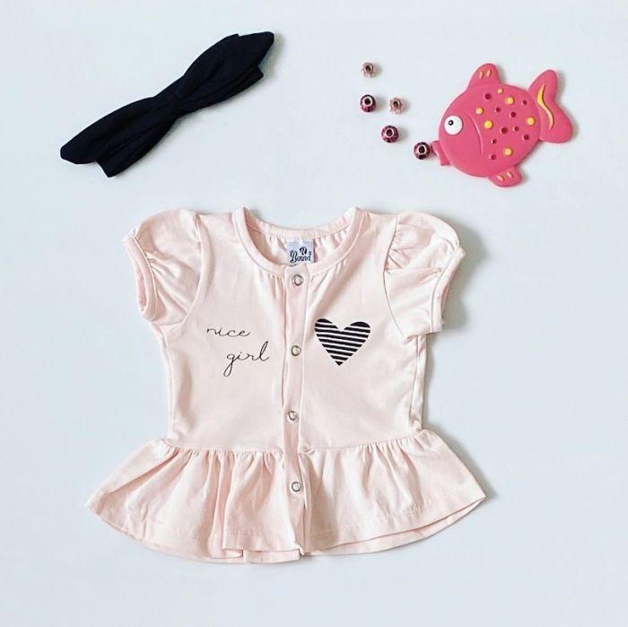 Bluzka nice z krótkim rękawem dla dziewczynki 56-92 cm