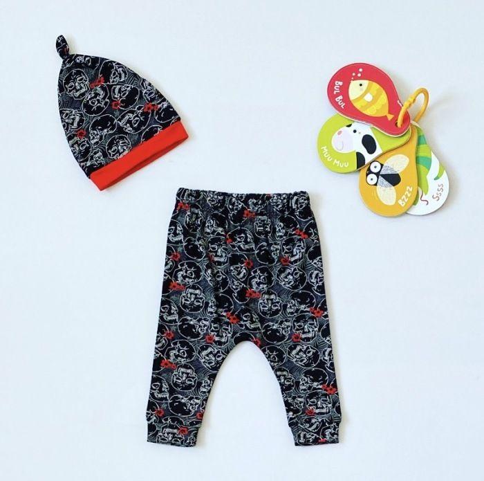 Spodnie sweet + czapka dla chłopczyka 56-92 cm