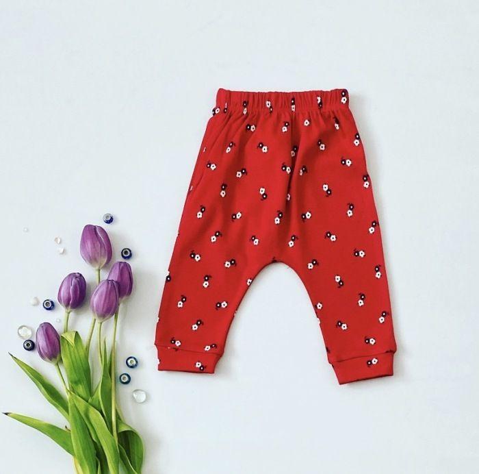 Spodnie flowers dla dziewczynki 56-92 cm
