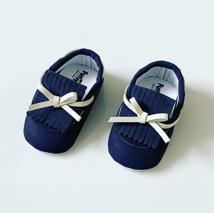 Buciki niemowlęce dark blue dla chłopczyka