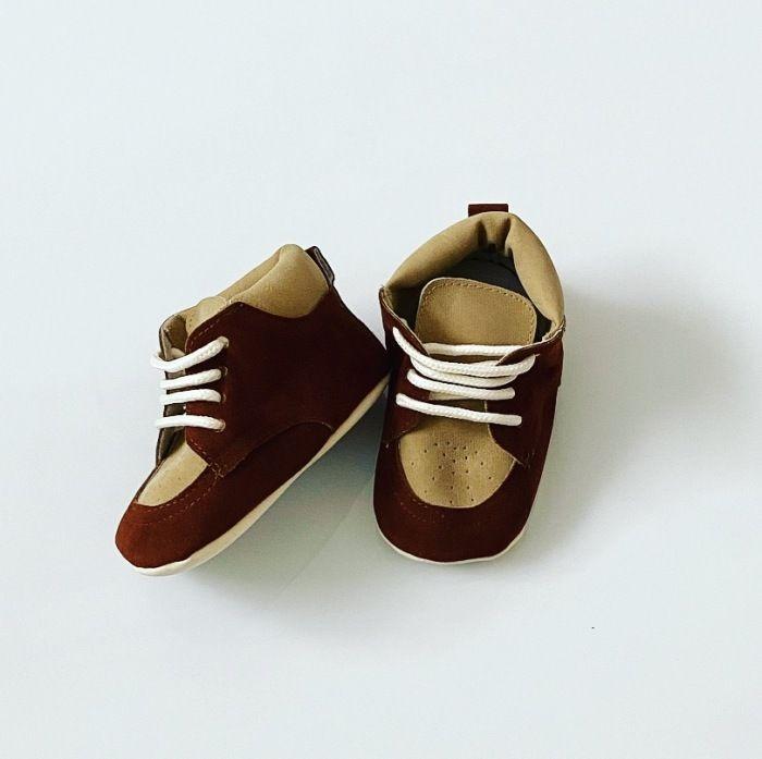 Buciki niemowlęce bronze dla chłopczyka