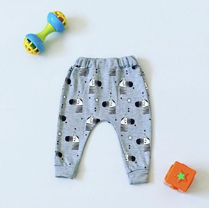 Spodnie zebra dla chłopczyka 56-92 cm