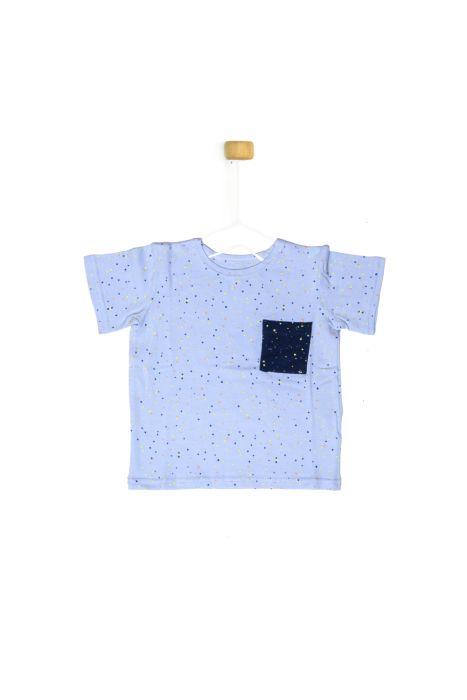 T-shirt w kropeczki dla chłopczyka 56-92 cm