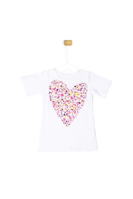 Bluzeczka z krótkim rękawkiem - serce
