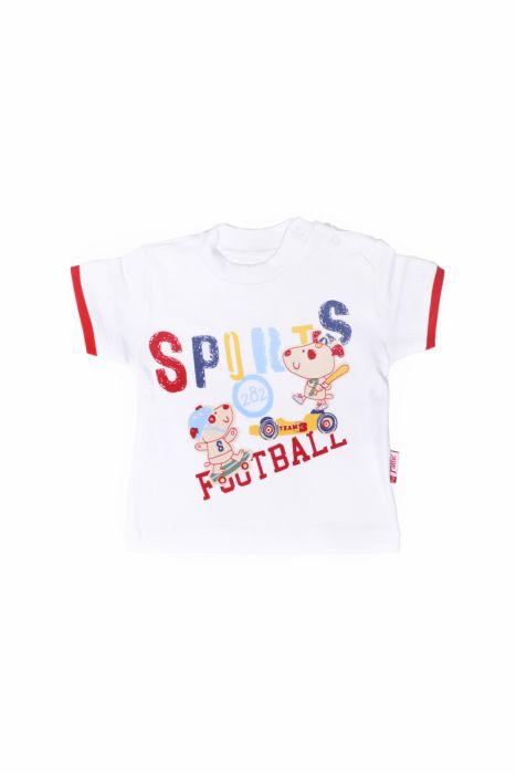 T-shirt z krótkim rękawkiem - football dla chłopczyka 56-92 cm