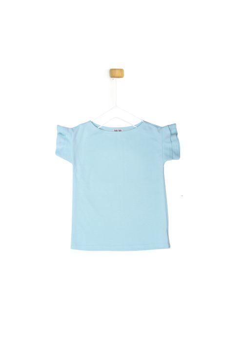 Miętowa bluzeczka z krótkim rękawkiem