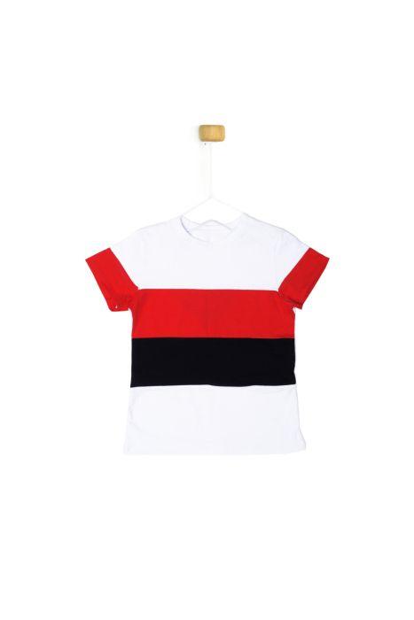 Koszulka z krótkim rękawem w pasy