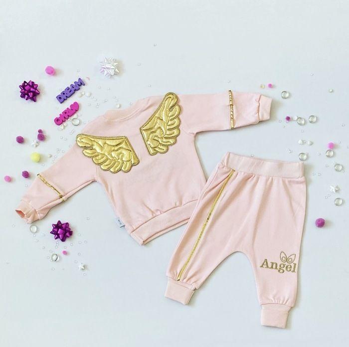 Komplet pink angel dla dziewczynki 56-92 cm