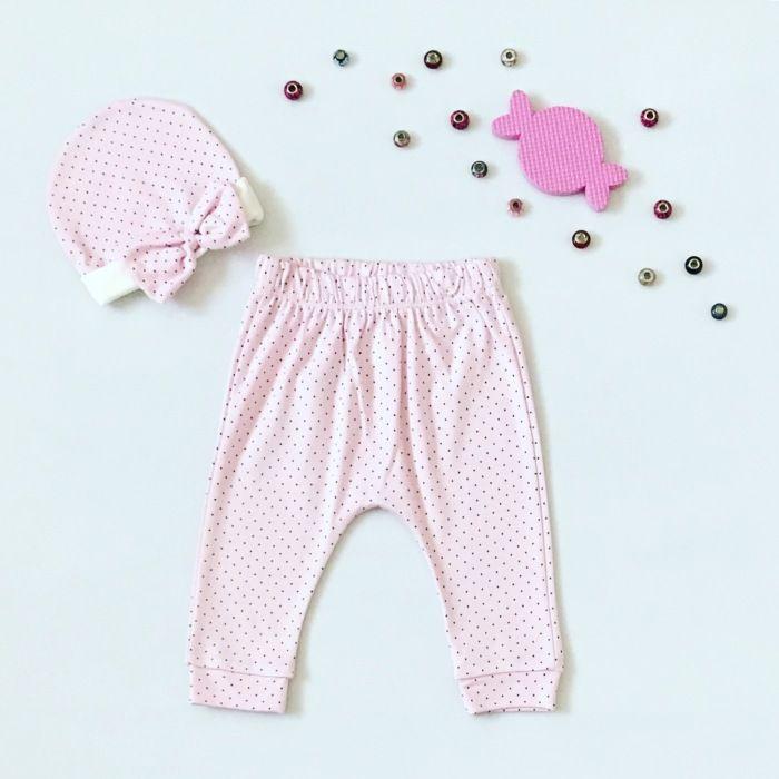 Spodnie princessa + czapeczka dla dziewczynki 56-92 cm