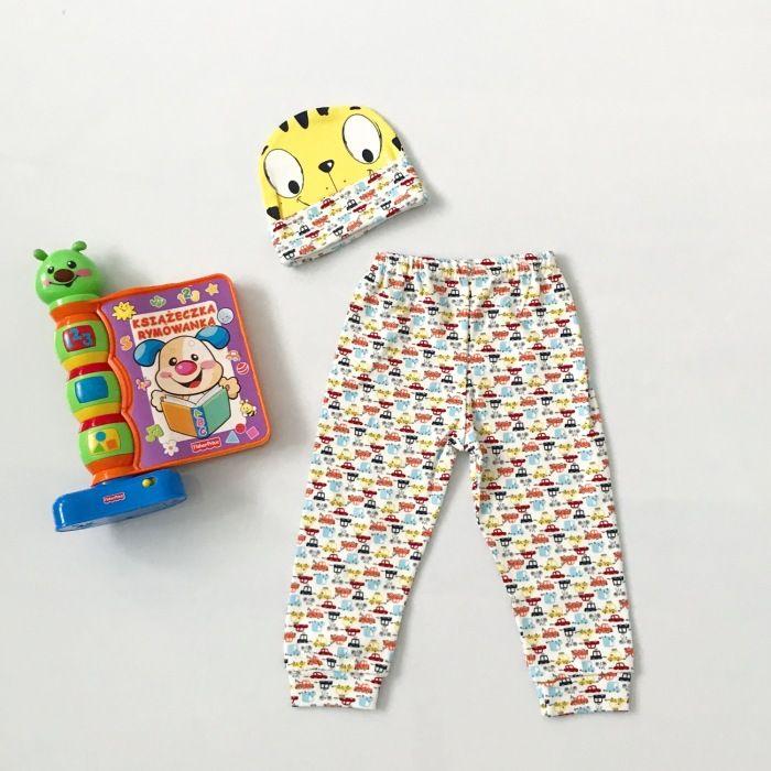 Spodnie Mini świat + czapka dla chłopczyka 56-92 cm