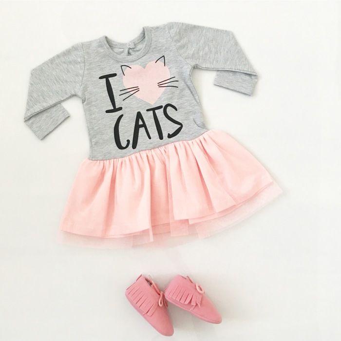 Sukienka Cats dla dziewczynki 56-92 cm