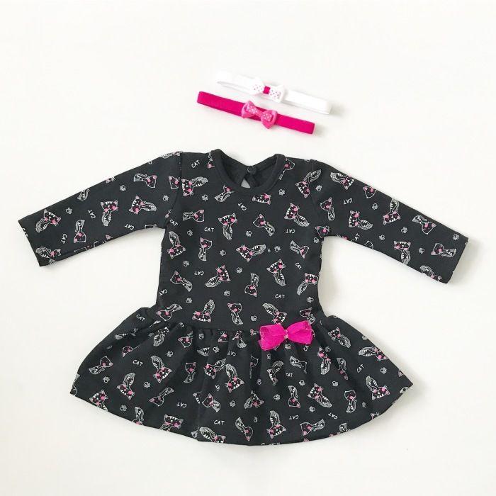 Sukienka w kotki dla dziewczynki 56-92 cm