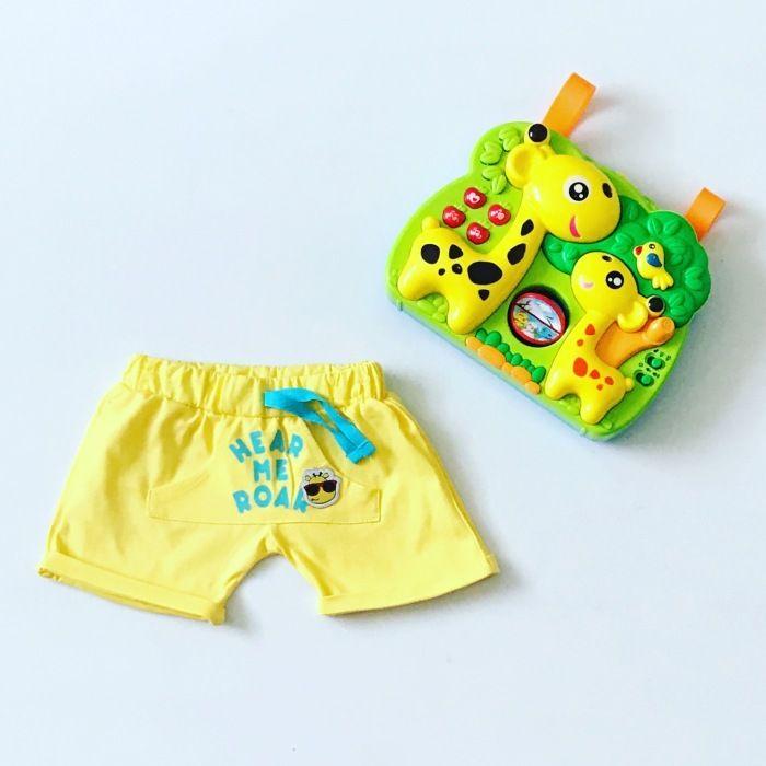 Żółte spodenki dla chłopczyka 56-92 cm