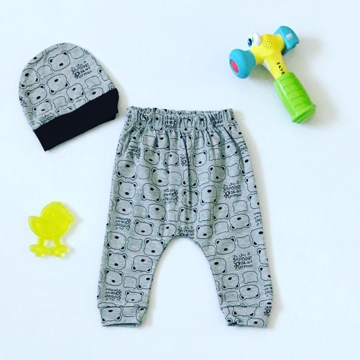 Spodnie tim + czapka dla chłopczyka 56-92 cm