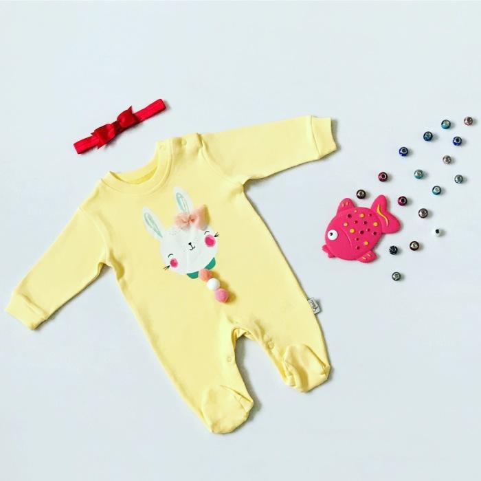Pajac yellow bunny dla dziewczynki 56-92 cm