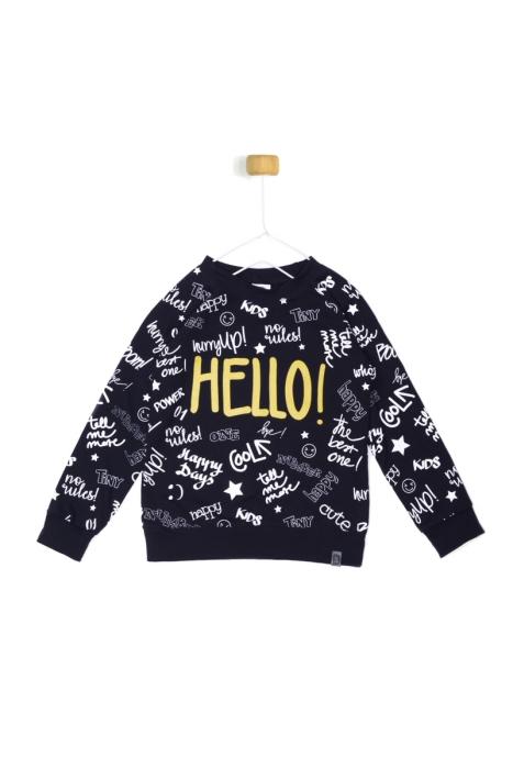 Czarna bluza Hello