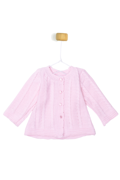 Różowy sweterek ze wzorem