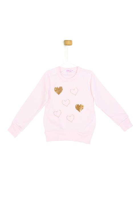 Jasno różowa bluza z serduszkami