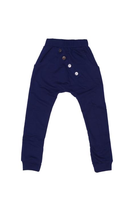 Granatowe spodnie z guzikami