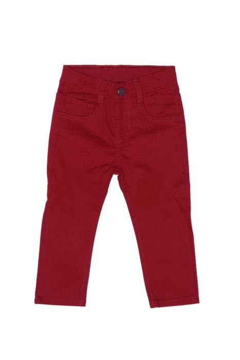 Bordowe spodnie