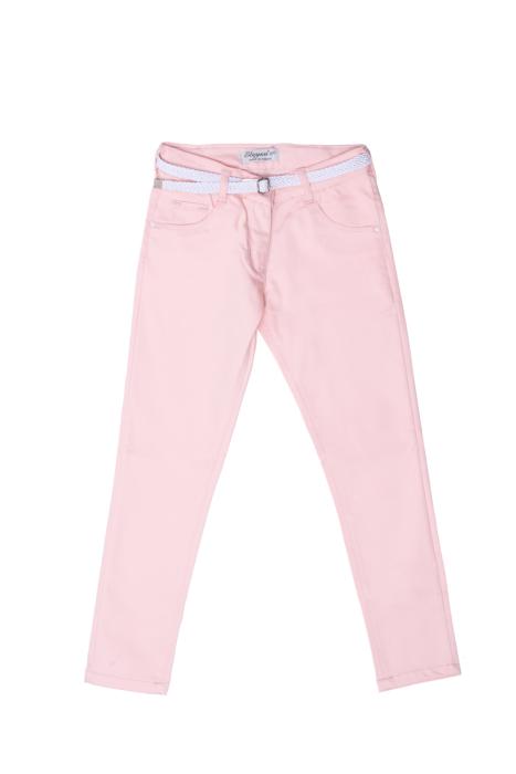 Pudrowy róż spodnie